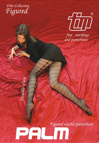 Elite Collection of Fashion Jacquard Tights - Elastic patterned ...